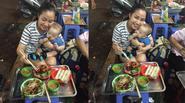 """Facebook 24h: Mẹ con Ốc Thanh Vân """"lê la"""" ăn uống vỉa hè Hà Nội"""