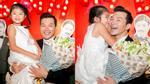 Con gái Trần Bảo Sơn ngượng ngùng hôn bố giữa họp báo