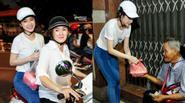 Angela Phương Trinh cùng mẹ làm việc thiện đêm khuya