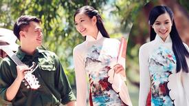 Lương Giang yêu kiều với áo dài mừng Quốc Khánh