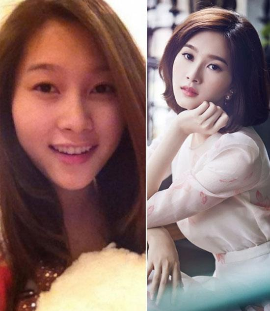 'Chấm điểm' mặt mộc và mặt trang điểm của 7 Hoa hậu Việt  - Ảnh 3