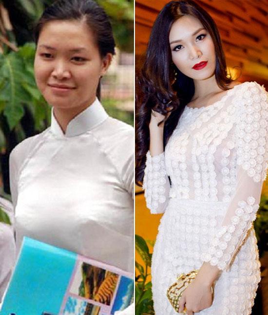 'Chấm điểm' mặt mộc và mặt trang điểm của 7 Hoa hậu Việt  - Ảnh 5