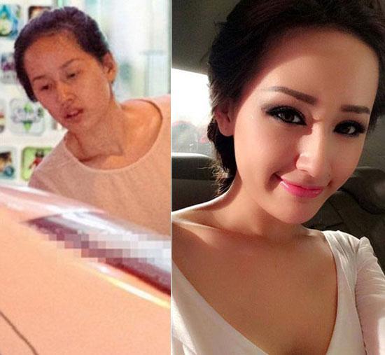 'Chấm điểm' mặt mộc và mặt trang điểm của 7 Hoa hậu Việt  - Ảnh 1