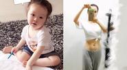 """Facebook 24h: Con gái Elly Trần """"học bài"""" - Chiêm ngưỡng eo thon của Diễm Hương"""