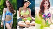 """""""Bỏng mắt"""" đường cong nuột nà của hot girl Việt khi diện bikini"""