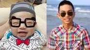 Cận khuôn mặt giống y bố của con trai Khánh Thi
