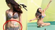 Thí sinh Hoa hậu châu Á 'vồ ếch' và lộ bụng mỡ khi trình diễn bikini