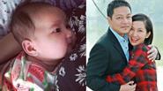 Cận khuôn mặt bầu bĩnh giống bố của con gái Kim Hiền