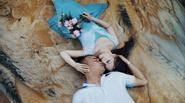 Thích mê bộ ảnh cưới cực độc với bãi cát lạ sau cơn bão của cặp đôi Nghệ An