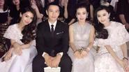 Huỳnh Hiểu Minh cứng đờ người vì bị kẹp giữa 3 người đẹp đình đám