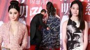 Huỳnh Hiểu Minh cúi gập người kéo váy cho Angela Baby giữa dàn sao khủng