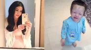 """Facebook 24h: Vợ Đăng Khôi """"tự sướng"""" khoe bụng bầu - Con gái Elly Trần """"hoá"""" thôn nữ"""
