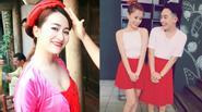 Trang Moon làm gái quê vẫn cực sexy - Phở hồn nhiên diện váy đỏ chót bên Ngọc Thảo