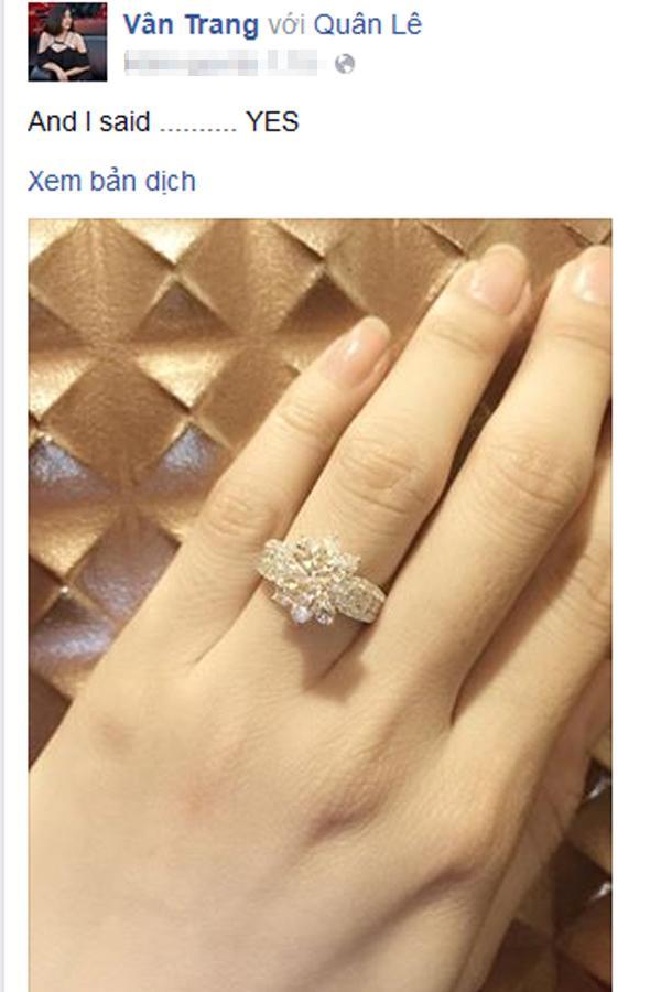Vân Trang đứng hình khi bạn trai cầu hôn bằng nhẫn kim cương - Ảnh 2
