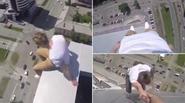 """Rùng mình với sở thích """"tự sướng"""" trên nóc tòa nhà 40 tầng của chàng trai trẻ"""