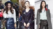 Park Shin Hye cùng Liu Wen thanh lịch xem show Chanel