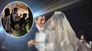 """ĐỘC: Fan trèo rào, đội mưa """"khóc"""" mừng hạnh phúc Huỳnh Hiểu Minh - Angela Baby"""