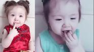 """Clip: Con gái Elly Trần """"hóa chuột con"""" ăn hạt siêu dễ thương"""