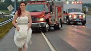 """Hình ảnh cô dâu bỏ đám cưới cứu người lan truyền """"chóng mặt"""""""