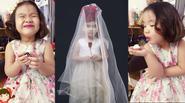 """Facebook 24h: Con gái Thành Trung làm """"cô dâu 5 tuổi"""" siêu dễ thương"""