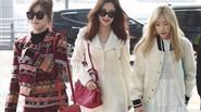 Taeyeon, Tiffany và Seohyun (SNSD) gây 'náo loạn' sân bay