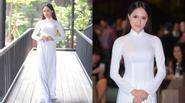 Hương Giang idol gìn giữ vẻ đẹp trong tà áo dài trắng tinh khôi