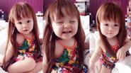 """Facebook 24h: """"Thiên thần"""" Mộc Trà dễ thương với mái tóc dài"""