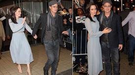Angelina Jolie và Pitt quấn quýt không rời tại công chiếu phim