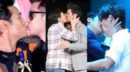 Màn khóa môi đồng giới gây sốc của loạt nam thần Hoa ngữ