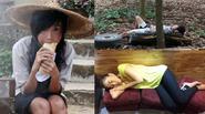 Sao Việt ăn, ngủ tạm bợ khiến fan xót xa