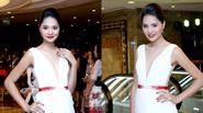 Hoa hậu Hương Giang diện váy xẻ ngực sâu táo bạo