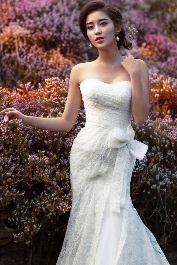 Á hậu Huyền My mặc áo cưới ở trời Tây ảnh 9