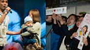 Quá hâm mộ, bà mẹ trẻ vác cả con trẻ gặp sao Hàn
