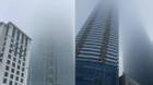 Hà Nội: Sương mù bao phủ tòa nhà cao nhất Việt Nam