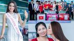 Mẹ ruột bỏ công, bỏ việc ra tận sân bay tiễn Phạm Hương thi Hoa Hậu