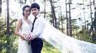 Kim Cương khéo léo giấu bụng bầu 4 tháng trong ảnh cưới với Ưng Hoàng Phúc