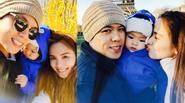 Gia đình Diễm Hương hạnh phúc tận hưởng tuần trăng mật tại Pháp