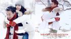 'Cặp tình nhân' Đồng Đại Vy và Lưu Thi Thi hạnh phúc đón Giáng sinh