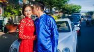 Diễm Trang được rước dâu bằng siêu xe tại quê nhà