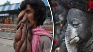 Người đàn ông có khuôn mặt voi được coi như thần thánh