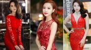 Váy đỏ nóng bỏng đi dự tiệc cho quý cô đầu năm mới