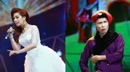 Lâm Chi Khanh diện đầm công chúa lần đầu diễn hài - Hiệp Gà hóa bà già
