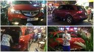 Xe của ca sĩ Quách Thành Danh tông phải bốn xe gắn máy trên đường chạy show