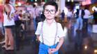 Con trai Thanh Thúy - Đức Thịnh sành điệu đi xem hoạt hình