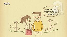 Tranh vui: Khác biệt chóng mặt của anh chàng ngày xưa bạn yêu và hiện tại