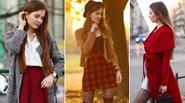 Chiêu mặc sắc đỏ đẹp từ đầu đến chân ngày xuân