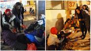 Hà Hồ sưởi ấm cái Tết của người vô gia cư Hà Nội