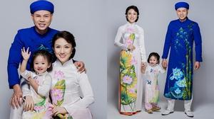 Gia đình Phan Đinh Tùng đáng yêu trong bộ ảnh áo dài đón Tết