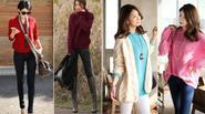 F5 phong cách với áo len sắc màu ngày xuân