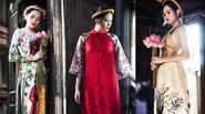 Hoa hậu Đông Nam Á Diệu Linh đẹp trầm mặc với áo dài cách tân